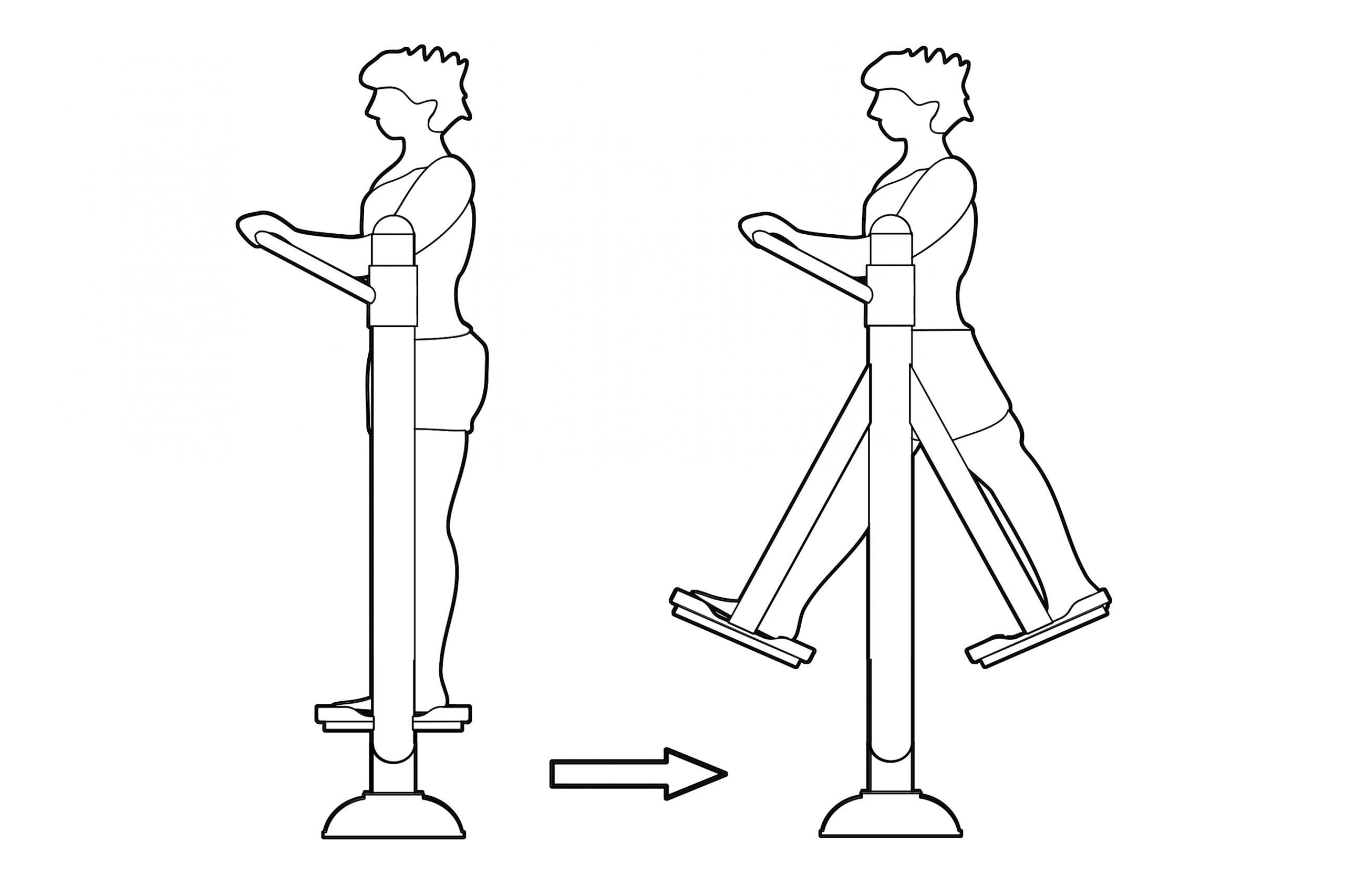 הליכה באוויר - אופן השימוש