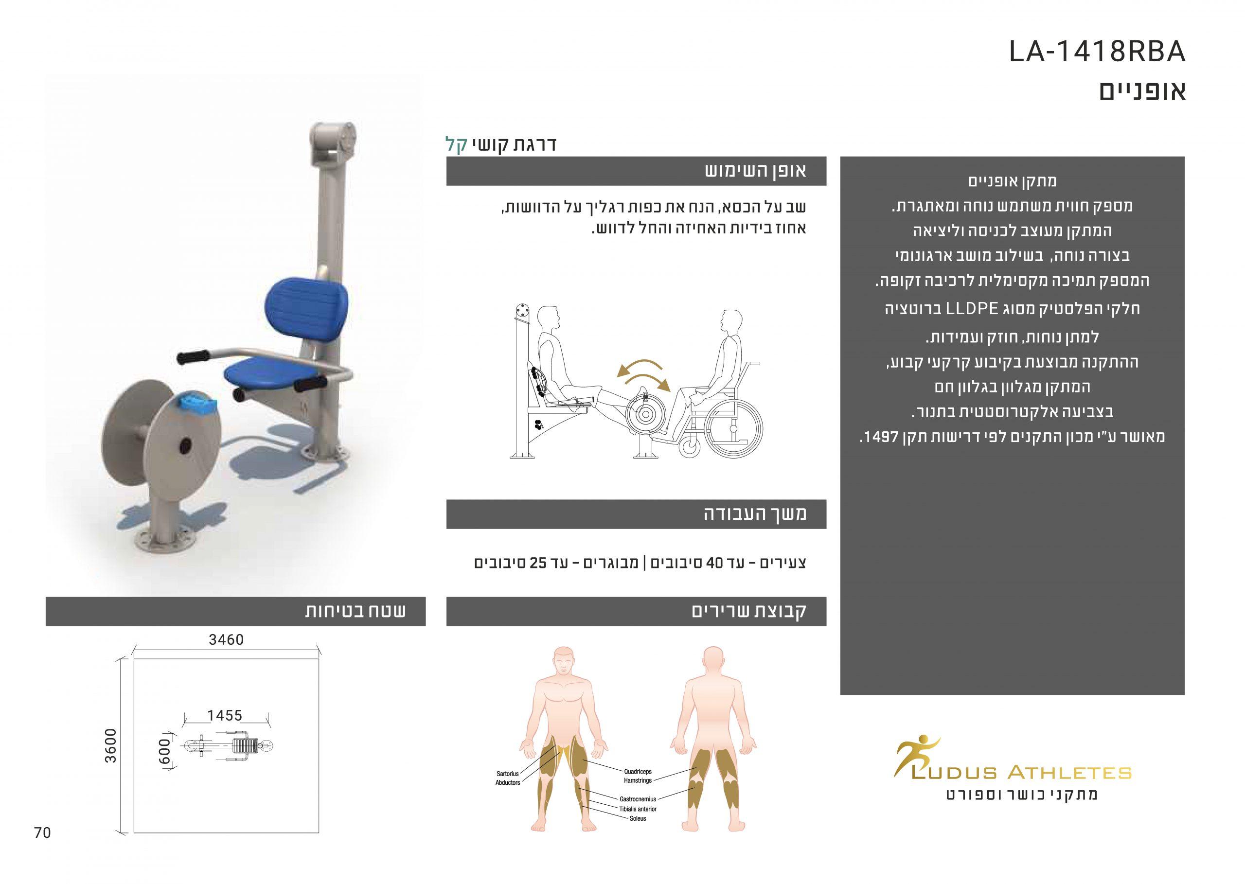 מתקן אופניים מונגש